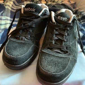 Reebok Shoes - Suede Reebok Steel Toe work sneakers